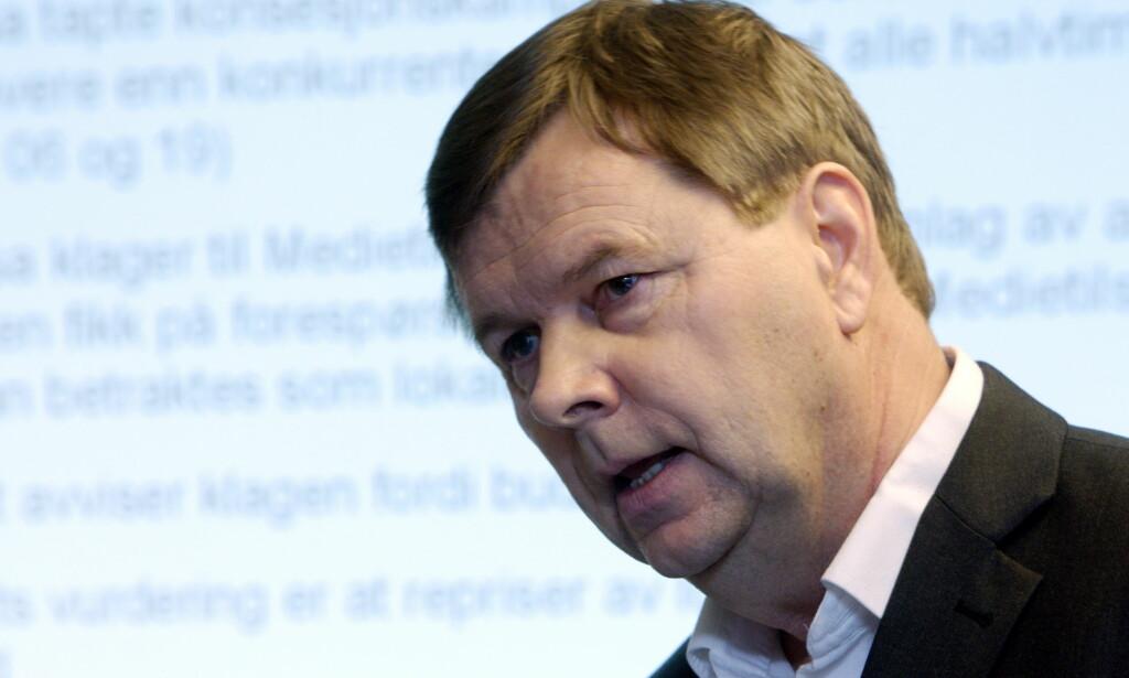 KLAGE TIL ESA: Svein Larsen, styreleder i Norsk Lokalradioforbund, forteller at de ikke ønsker å ødelegge for NRK, P4 og Radio Norge, og at de er mest opptatt av at lokale radiokanaler ikke må slukke mot sin vilje. FOTO: Håkon Mosvold Larsen / Scanpix