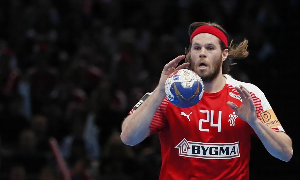 Bråk etter kamp: Den danske håndballspilleren, Mikkel Hansen, skal ha havnet i bråk med en funksjonær etter semifinalen mot Sverige fredag. FOTO: IAN LANGSDON / EPA