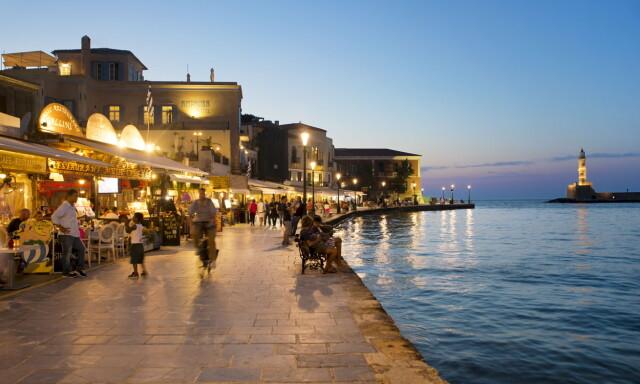 1262cccc REN IDYLL: Den gamle venetianske havnen i Chania er intenst koselig. Kreta  er fint