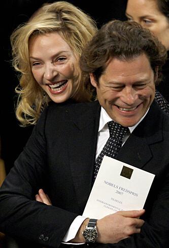 ANNET LYNNE: Forholdet mellom skuespilleren og millarderen hadde et annet lynne før de gikk hvert til sitt. Foto: Scanpix.