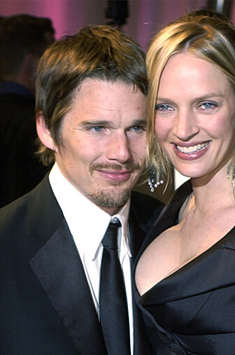 SKUESPILLERDUO: Thurman var gift med skuespiller Ethatn Hawk fra 1998 til 2005. Sammen har de barna Maya og Leon. Foto: Scanpix.