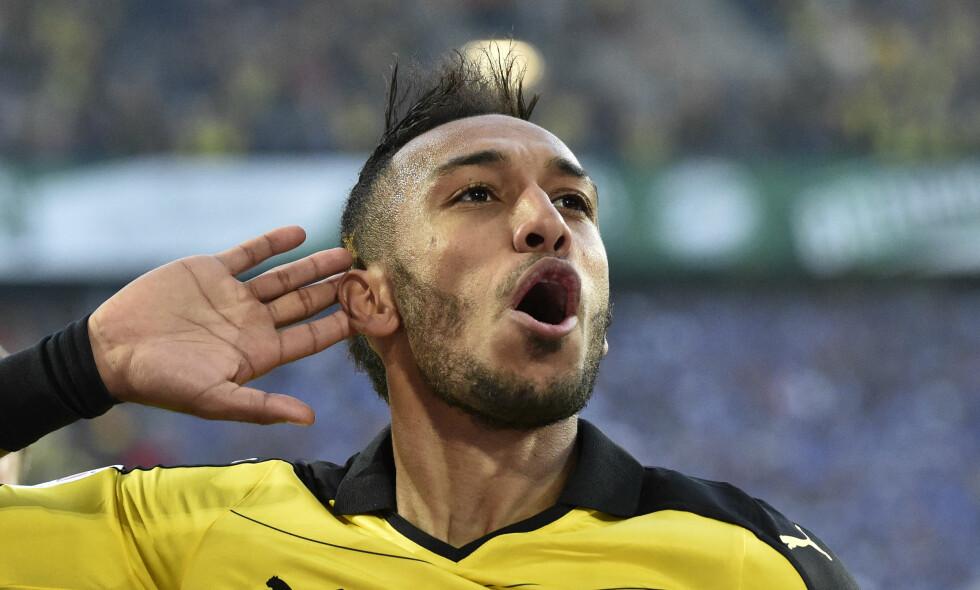 SANCHEZ HVEM? Kan Pierre-Emerick Aubameyang fylle tomrommet etter Alexis Sanchez? Arsenal-fansen håper svaret er et rungende ja. Foto: AP Photo/Martin Meissner/NTB Scanpix