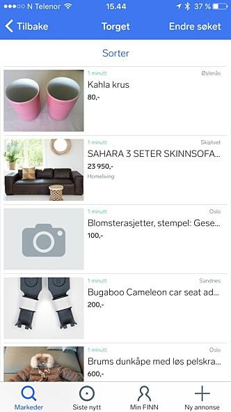 Her er likhetene og forskjellene når du skal selge tingene dine på nett