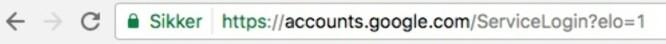 <strong>SIKKER:</strong> Slik ser det ut om du åpner den legitime innloggingssiden i Chrome. Skjermdump: Pål Joakim Pollen