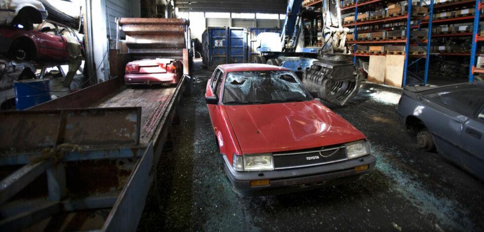 image: Her venter de lengst med å skrote bilen