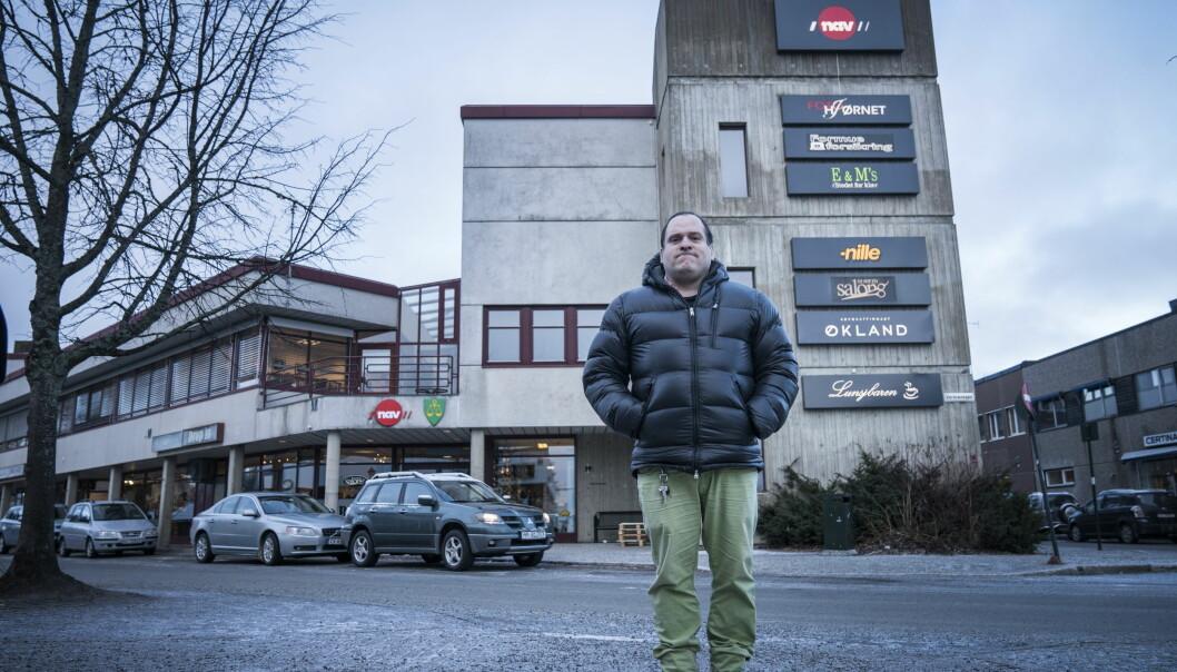 <strong>HAR ADGANG:</strong> Butikkeierne kontaktet ikke eieren av kjøpesenteret Saga 2 før de bortviste Damian Moen (40). Foto: Øistein Norum Monsen / Dagbladet