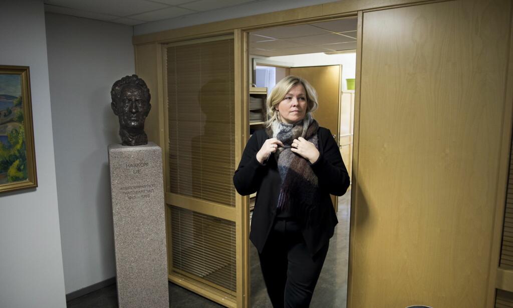 INGEN VARSLER: Kjersti Stenseng, partisekretær i Ap, sier hun ikke har mottatt varsler. Foto: Lars Eivind Bones / Dagbladet