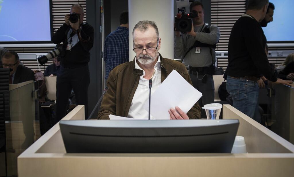 TILTALT: Tidligere politietterforsker Eirik Jensen i vitneboksen i Oslo Tingrett, Rettsal 250. Foto: Lars Eivind Bones / Dagbladet
