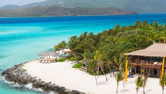 <strong>PARADIS:</strong> Necker Island er ikke stor, men har alt du forbinder med Karibia. Foto: Splash News and Pictures / NTB Scanpix