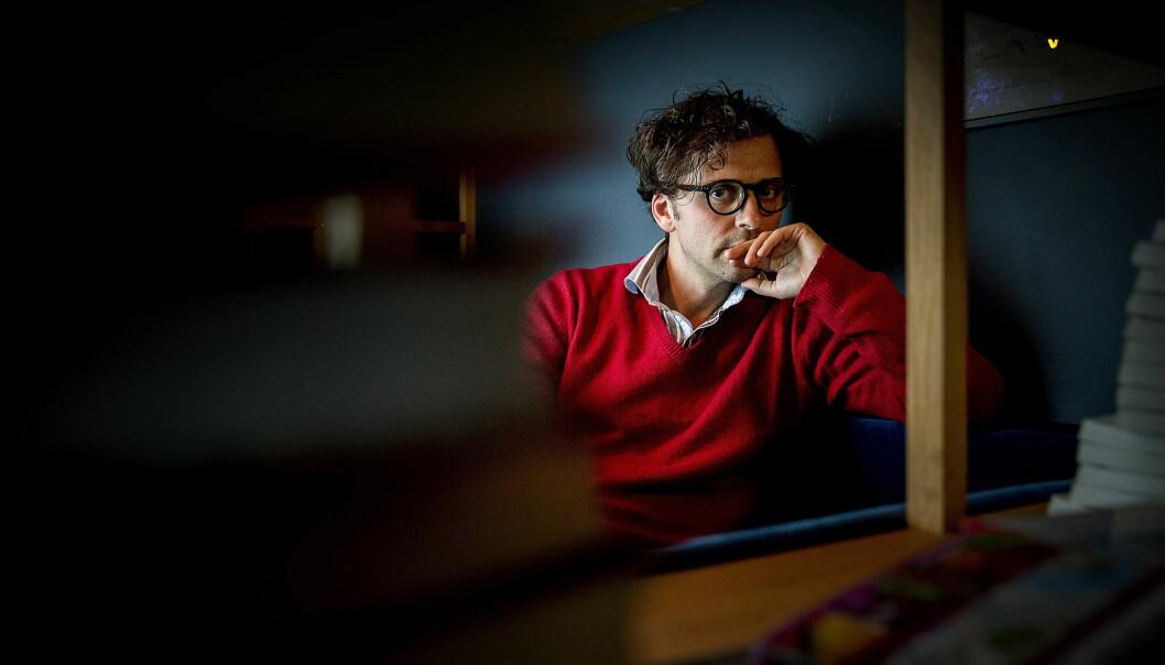 HISTORIEFORTELLEREN: Demian Vitanza  har skrevet romanen «Dette livet eller det neste», om den norskpakistanske mannen som dro til Syria for å bli fremmedkrigeren. Foto: Bjørn Langsem / Dagbladet