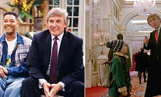 KJENT TV-ANSIKT: USA's nye president, Donald Trump, var et kjent tv-ansikt lenge før han var programleder i programmet «The Apprentice». Han har både spilt en rekke roller selv, men også blitt parodiert, samt fått en karakter basert på seg selv.