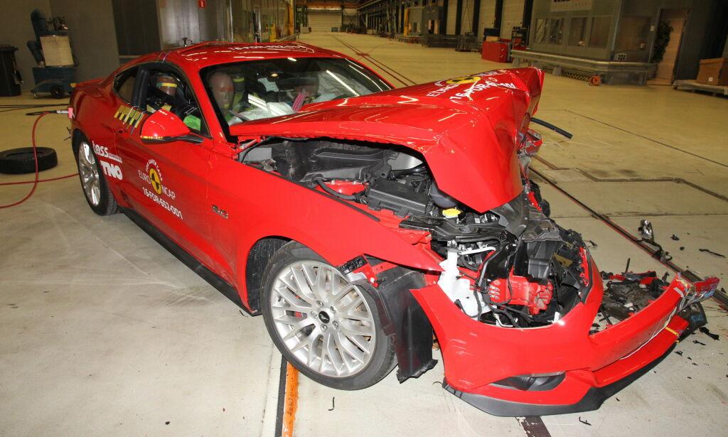 image: Sportsbilen fikk katastrofalt resultat i krasjtesten