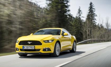<strong>TYSK SPORTSBILSUKSESS:</strong> Ford Mustang har klart det mesterstykket å selge bedre enn Porsche 911 i Tyskland. Foto: Ford