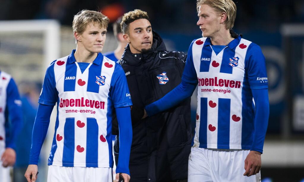 Martin Ødegaard (t.v) og Morten Thorsby var minutter unna viktig seier i Æresdivisjon lørdag kveld. Foto: Jon Olav Nesvold / NTB scanpix