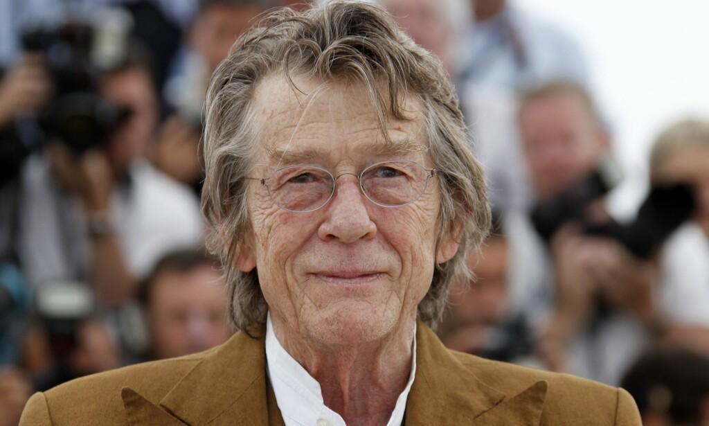 DØD: Den britiske skuespilleren John Hurt, kjent for rollene i «Elefantmannen» fra 1980, «Alien» og flere Harry Potter-filmer, er død. Foto: Xposurephotos.com /NTB Scanpix