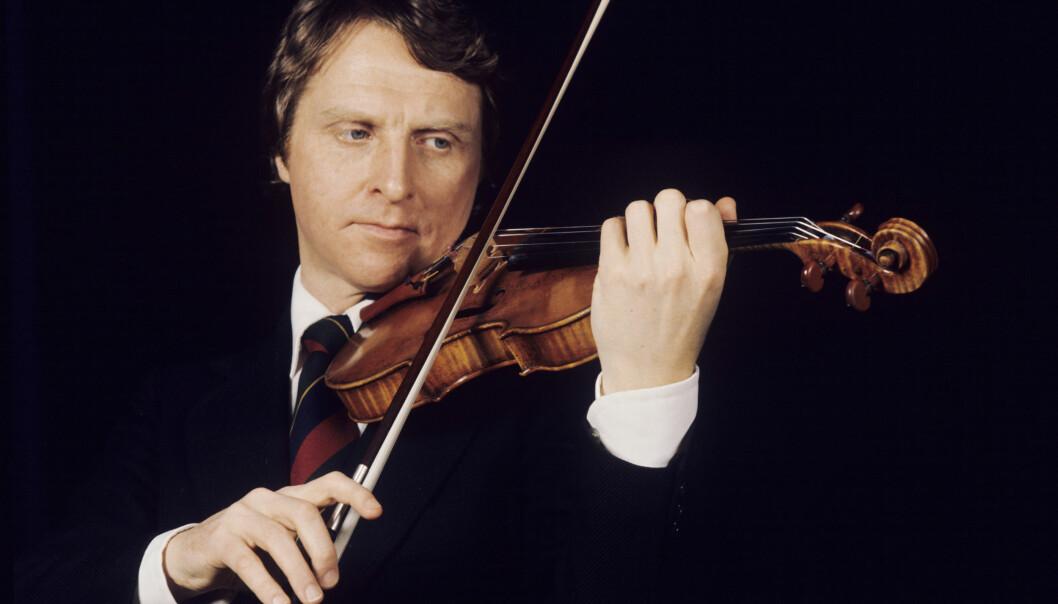LANG KARRIERE: Fiolinist Arve Tellefsen avbildet i 1977. Foto: Bjørn Sigurdsøn / NTB Scanpix