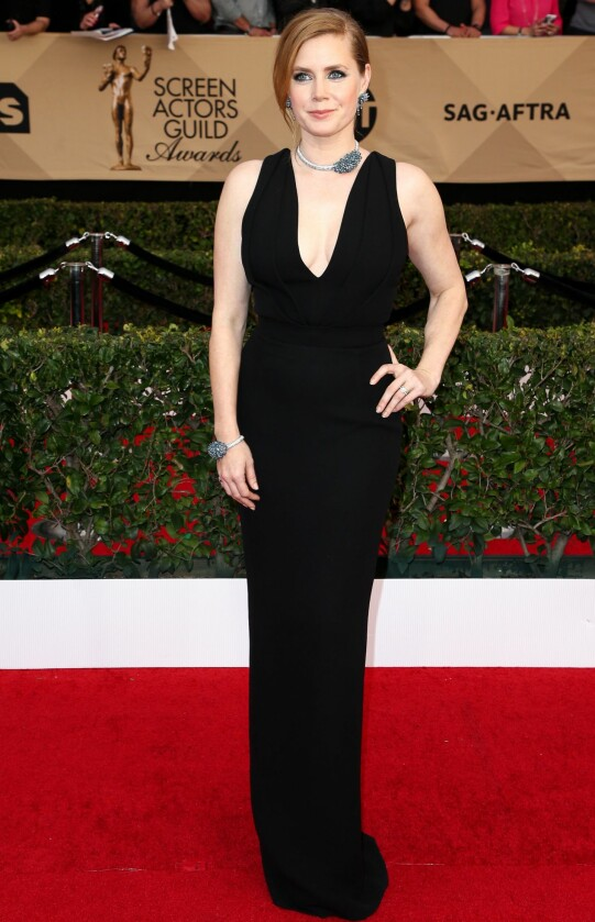 <strong>OGSÅ I SORT:</strong> Amy Adams var elegant i en kreasjon fra Brandom Maxwell. Foto: John Salangsang/BFA/REX/Shutterstock/ NTB Scanpix