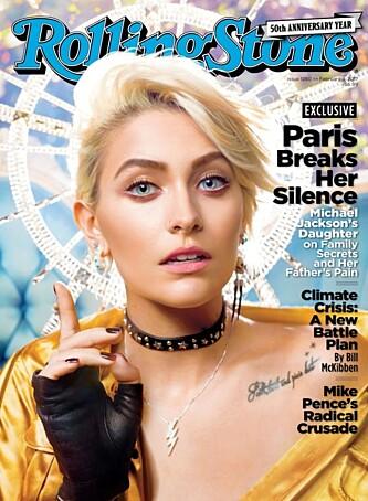 FORSIDEPIKE: Paris Jackson kampret forsiden til Rolling Stone i februar. Foto: NTB scanpix