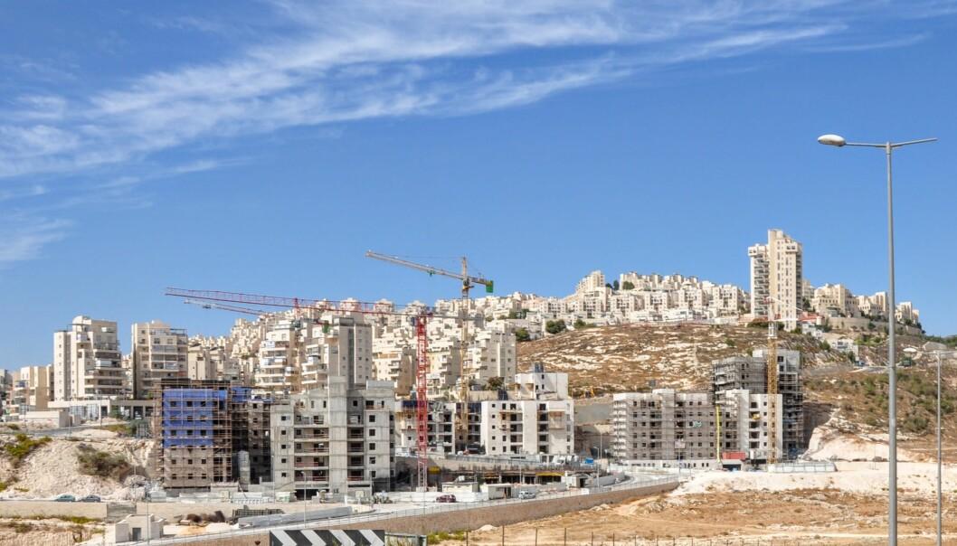 <strong>OKKUPERT:</strong> Her bygges en bosetning på okkupert territorium i nærheten av Jerusalem. Photo: Mikkel Bahl/Danwatch