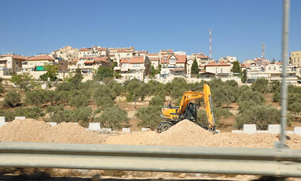 VESTBREDDEN: Byggeplass i nærheten av Bethlehem på okkuperte Vestbredden. Foto: Mikkel Bahl/Danwatch