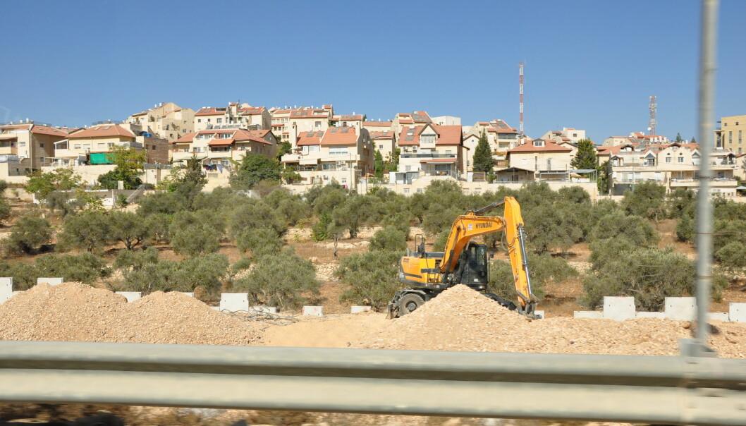 <strong>VESTBREDDEN:</strong> Byggeplass i nærheten av Bethlehem på okkuperte Vestbredden. &nbsp;Foto: Mikkel Bahl/Danwatch