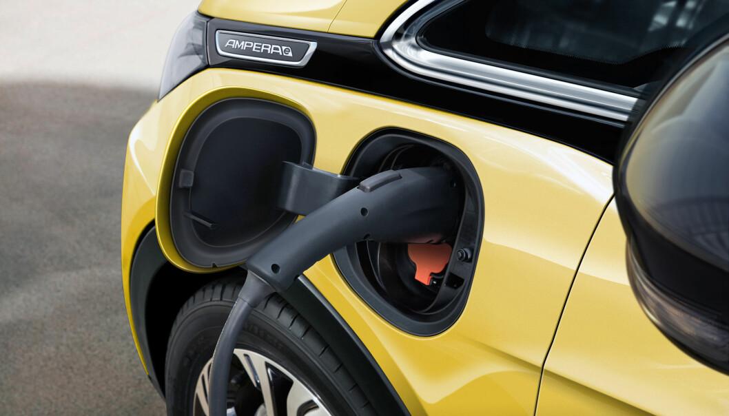 <strong>På pinebenken:</strong> Opel har holdt oppgitt rekkevidde for seg selv - helt til nå. Foto: Opel&nbsp;