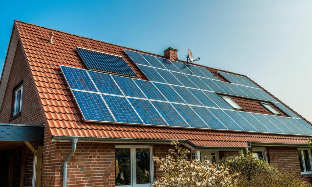SAMKJØP: Kollegene på jobben kjøpte solcellepaneler sammen. Foto: Diyana Dimitrova/Shutterstock/NTB scanpix