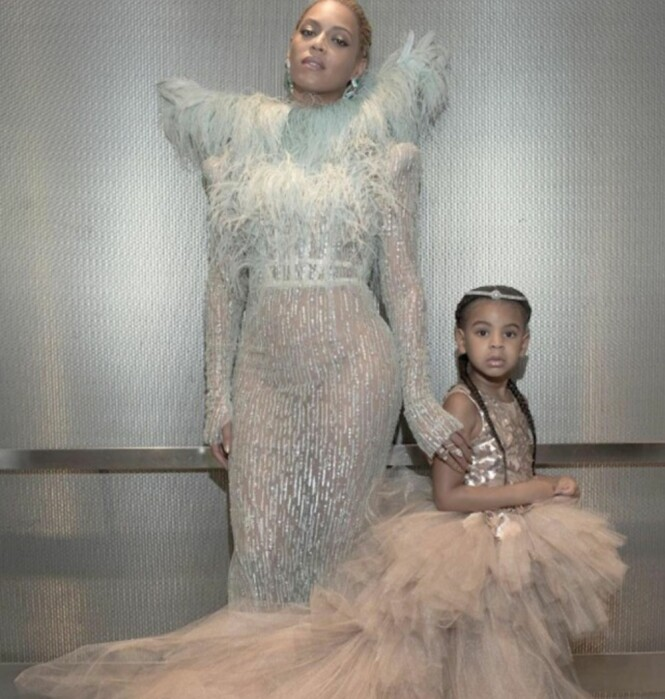 <strong>BLIR STORESØSTER:</strong> Under fjorårets MTV Video Music Awards tok Beyoncé med seg datteren Ivy Blue på den røde løperen. Foto: NTB Scanpix.