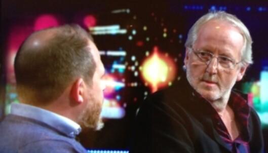 BIKKJA: Eyvind Hellstrøm føler at hans nye tv-kompis, Truls Svendsen, er som en bikkje.