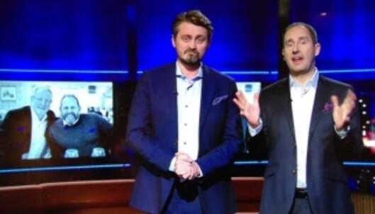 «SENKVELD»-PREMIERE: Thomas Numme og Harald Rønneberg er tilbake med «Senkveld» - fredag er det første sending i 2017 - med bl.a. Eyvind Hellstrøm og Truls Svendsen som gjester. Foto: TV2