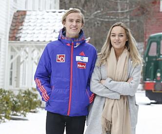 <strong>GOD STØTTE:</strong> Daniel-André Tande takker kjæresten Anja Nymoen Søberg for støtten. Foto: Terje Pedersen / NTB scanpix