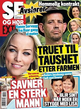 AVSLØRER KONTRAKTEN: Helgas utgave av Se og Hør avslører den hemmelige kontrakten «Farmen kjendis»-deltakerne er underlagt. Foto: Faksimile
