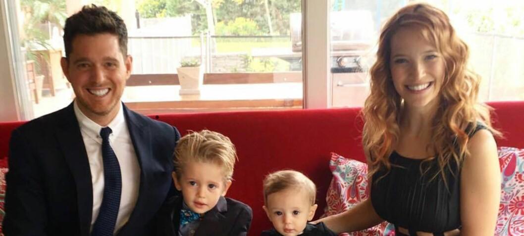 Hevder Michael Bublés sønn har blitt kreftfri