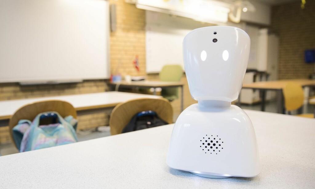 MULIGGJØRING: Roboten AV1 hjelper i dag over 150 norske elever med å delta på skolen. Drivkraften bak AV1 har alltid vært å bedre livene til barn og unge som ikke har de samme mulighetene som andre, skriver innleggsforfatteren. Foto: Tore Meek / NTB Scanpix