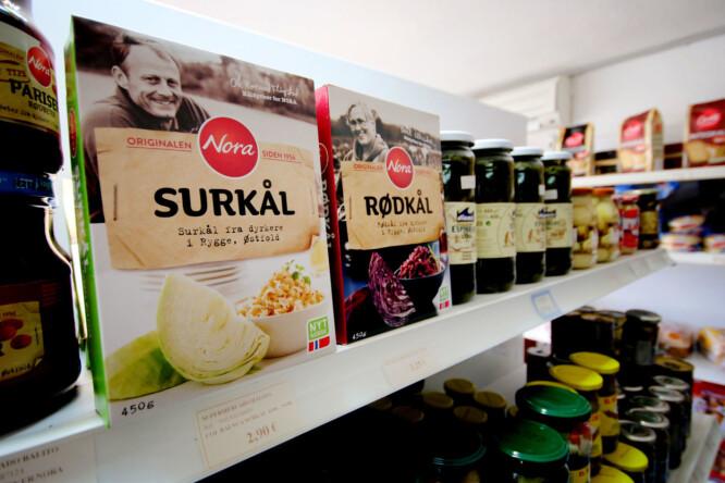 <strong>MYE NORSK MAT:</strong> Jepp, ikke noe problem om hjemlengselen blir for stor: Det er mye norsk mat å få kjøpt i butikkene på Gran Canaria. Foto: Ole Petter Baugerød Stokke