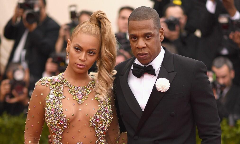 VENTER TVILLINGER: Denne uken avslørte stjerneparet Beyoncé og Jay Z nyheten om at de venter tvillinger - fem år etter at de fikk datteren Blue Ivy. Foto: AFP / NTB scanpix