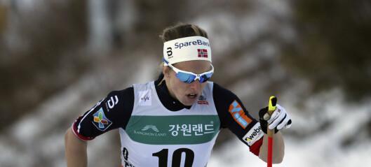 Norge slått av Sverige på lagsprinten i prøve-OL