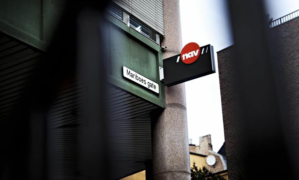 FØLGER MED: - Nav ser hvem som får penger igjen på skatten, og da er de der på pletten og snapper pengene med et smil, skriver Reidar Kaarbø. Her fra Navs hovedkontor i Mariboes gate i Oslo. Foto: Torunn Brånå