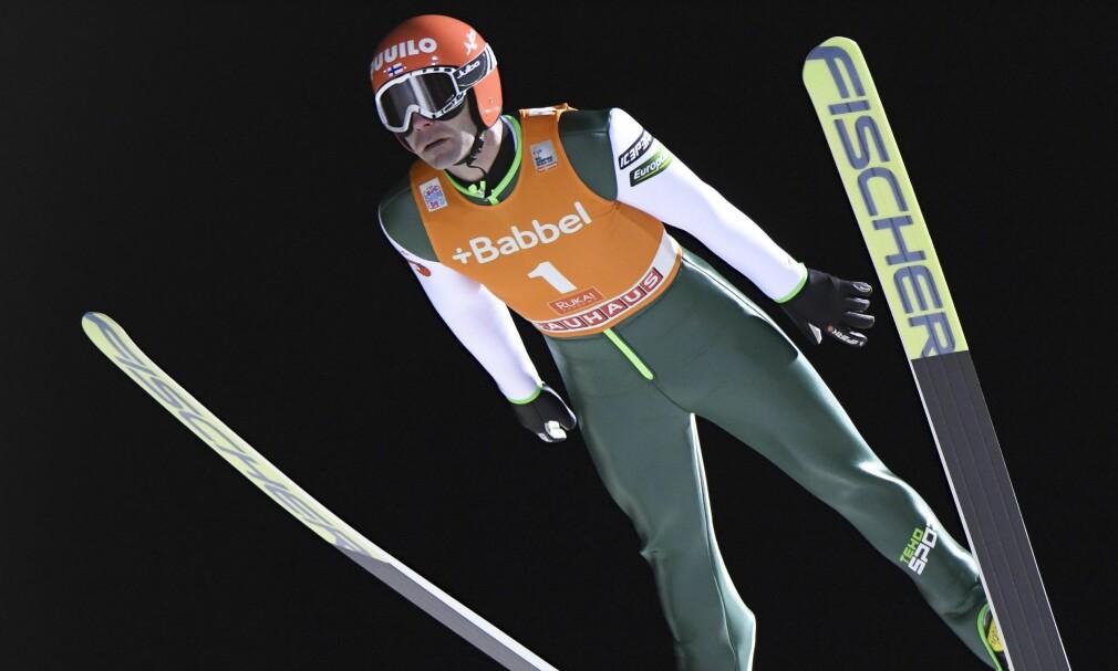 TIL LAHTI: Janne Ahonen er klar for sitt ellevte VM. Foto: EPA / KIMMO BRANDT / NTB Scanpix