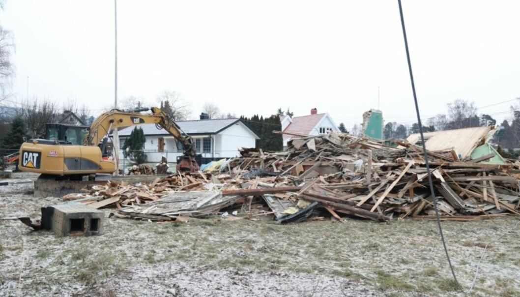 BORTE: Drømmehuset til Tone Damli og Markus Foss er historie. Foto: Tor Lindseth