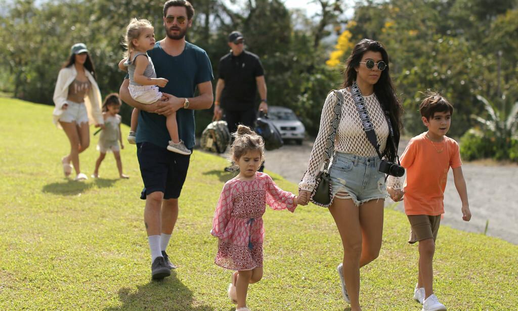 -ISFRONT: Scott Disick skal ha blitt kastet på dør, da han møtte opp utenfor huset til Kourtney Kardashian, for å treffe deres tre barn. Foto: NTB Scanpix