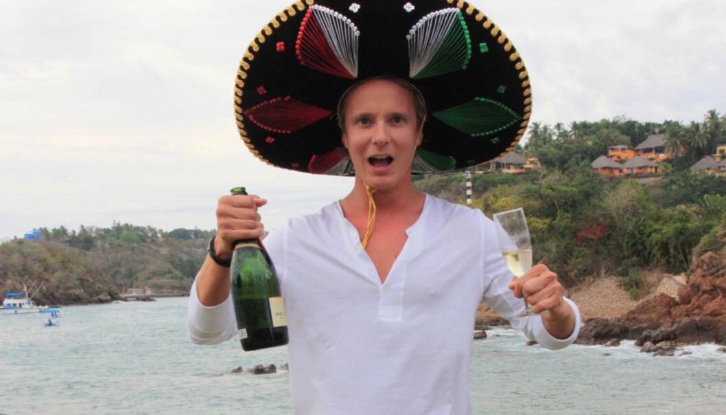 BLE KJENT SOM PARTYKONGE: Petter Pilgaard ble først kjent da han vant «Paradise Hotel» i 2009. Her er han i Mexico i 2011. Foto: Sølve Hindhamar, Seoghør.no