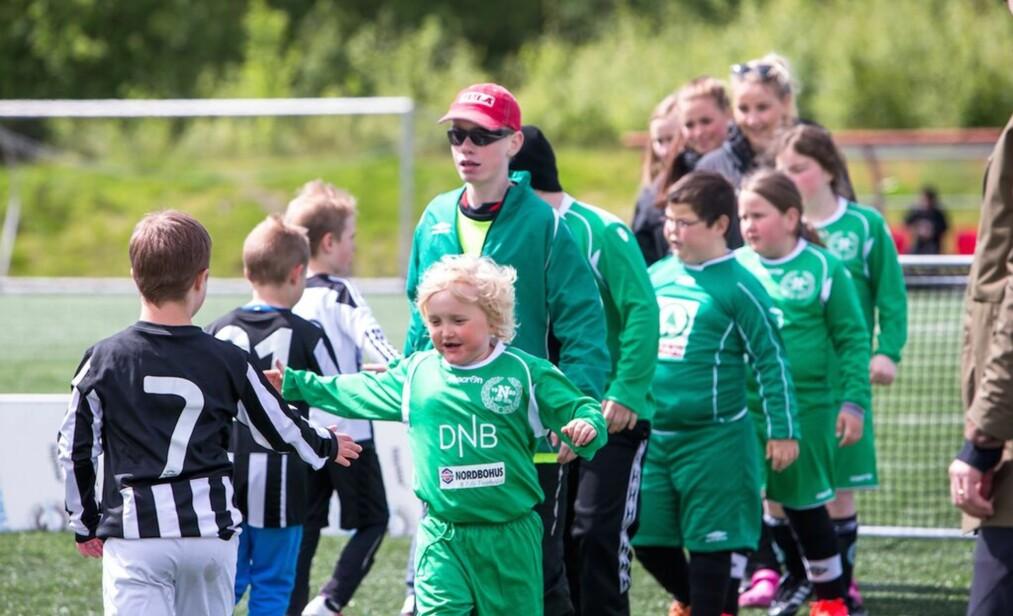 EGEN SERIE: I Hordaland har de en egen serie for tilrettelagt fotball - Stjerneserien. Foto: Tove Lise Mossestad