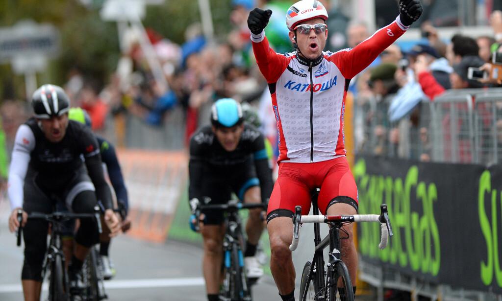 ALLTID INNOM DE PANNE: Alexander Kristoff har vunnet både Milano-Sanremo og Flandern rundt, men også sammenlagtseieren hans fra De Panne i 2015 henger ganske høyt. I dette rittet tok han også sin aller første proffseier i karrieren. FOTO: Tim De Waele/TDWSPORT.COM