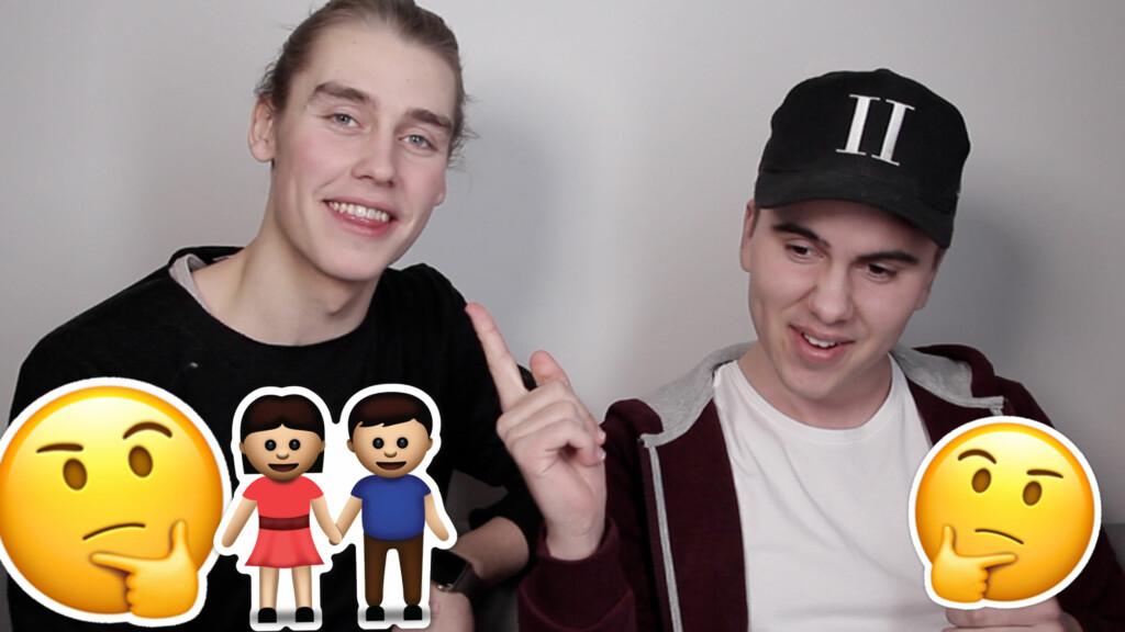 """Å """"BARE VÆRE VENNER"""": Går det egentlig an når man er gutt og jente? Thomas og Andreas lufter sine tanker i ukens video på TOPPtube! Foto: Topptube"""