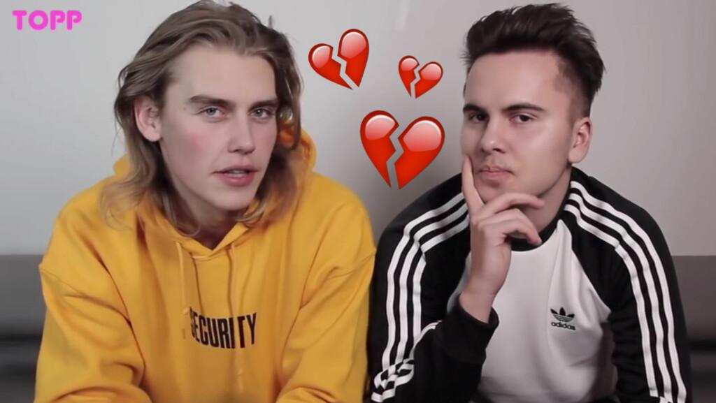 KJÆRLIGHETSSORG: Takler gutter å få hjertet sitt knust på en annen måte enn oss jenter? Vi spør Thomas (til venstre) og Andy fra Suite 16! Foto: YouTube/TOPPtube