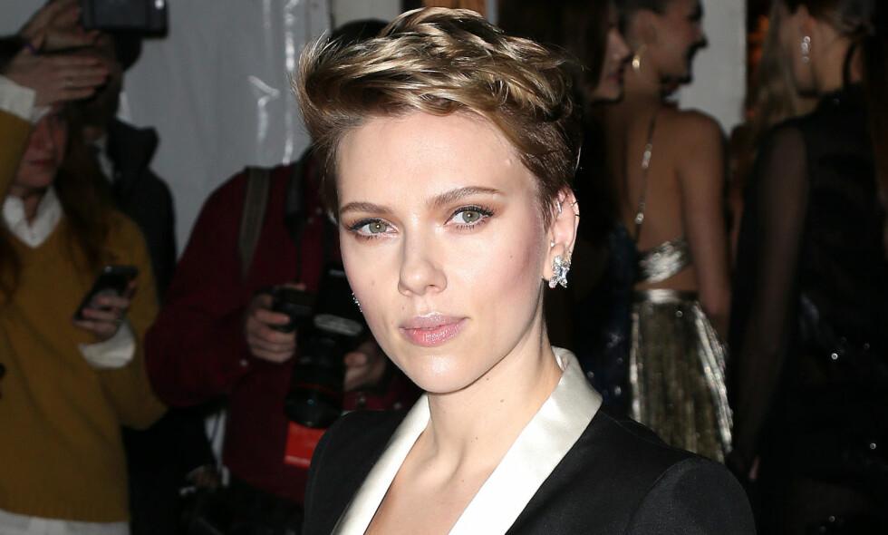 NYSKILT: Den ellers så private Scarlett Johansson (32) snakker åpenhjertig om det ferske samlivsbruddet i et nytt intervju - og hvorfor hun ikke tror på ekteskapet. Foto: NTB Scanpix