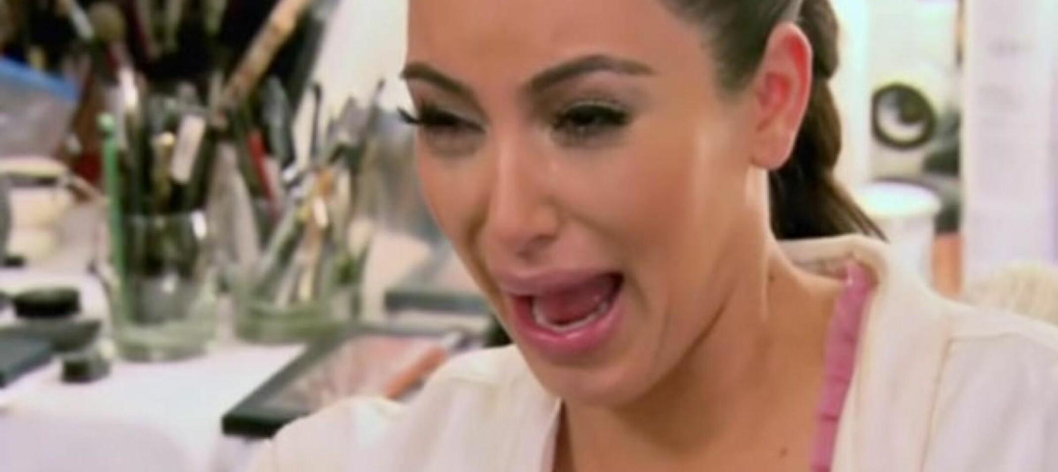 DRAMAQUEEN: Kim Kardashian passer definitivt inn i denne kategorien – og vi digger det. FOTO: Skjermdump