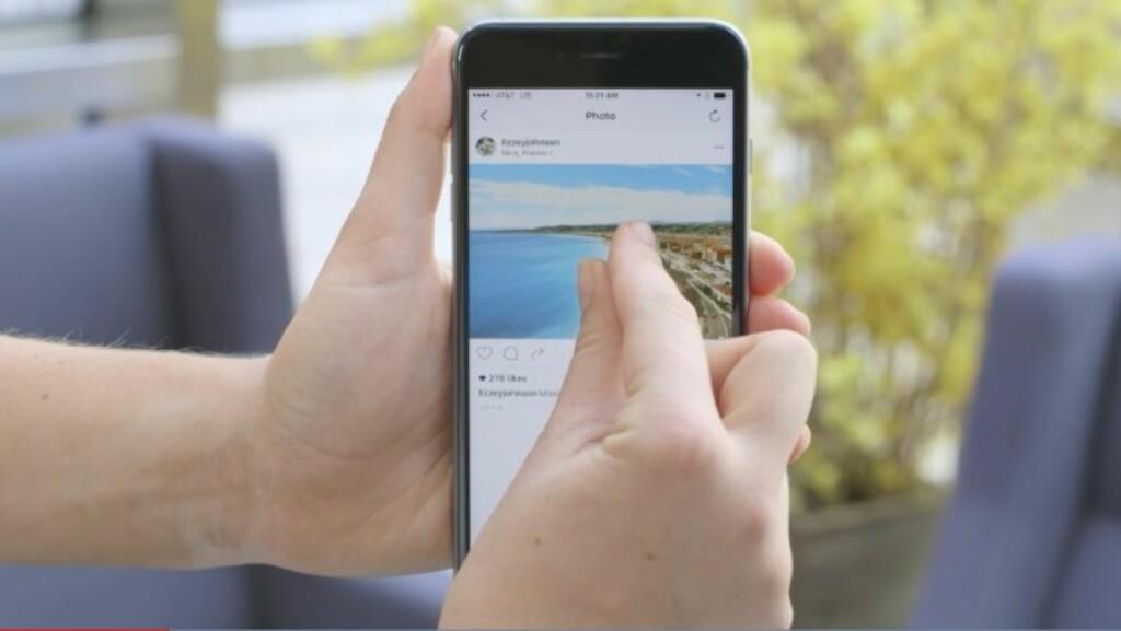 ZOOM: Nå lar Instagram deg ta en nærmere titt på bildene på feed'en din. Foto: Instagram