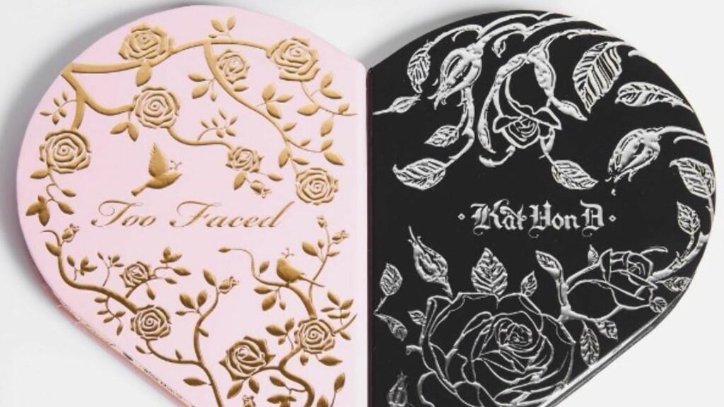 SAMARBEID: Dette er produktet Too Faced og Kat Von D lanserer til neste år. Foto: Skjermdump fra Instagram